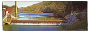 All - Brookville Waterworks Dam Panorama by Darlene Bell