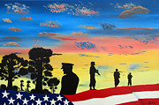 Patriotic Paintings - Brotherhood by Ralston Art  And Design