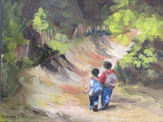 Young Love Painting Originals - Brotherly Love by Susan Richardson