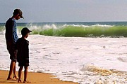 Troubled Life Art - Brothers at the beach by Satheesh Kumar