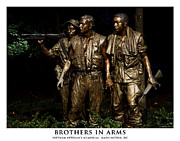 Scultpure Posters - Brothers in Arms Poster by Kendall James