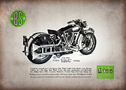 Motorcycle Metal Prints - Brough Superior SS100 Advert 1937 Metal Print by Mark Rogan