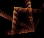 Abstract Digital Art Posters - Brown and Black in Lines Poster by Mario  Perez