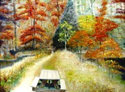 Indiana Autumn Painting Prints - Brown County Print by Michael Anthony Edwards