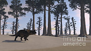 Prehistoric Digital Art - Brown Einiosaurus Roaming A Prehistoric by Kostyantyn Ivanyshen