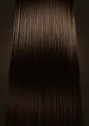 Brown Hair Perfect Straight Print by Allan Swart