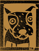Dog Rescue Digital Art Metal Prints - Brown Paper Dog #2 Metal Print by Anne Leuck Feldhaus