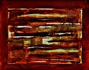 Brown Red And Golds Abstract Print by Marsha Heiken
