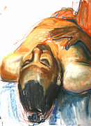 Figure Drawing Pastels Prints - Brown Sugar Print by Gabrielle Wilson-Sealy