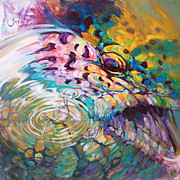 Mike Savlen - Brown Trout And Mayfly -...