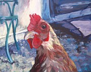 Framed Bird Prints Painting Prints - Brownie My Favorite Hen Print by Katrina West