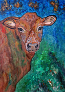 Heifers Posters - Brownie the Brown Cow Poster by Ella Kaye