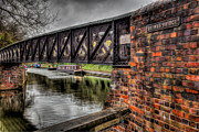Brick Digital Art Posters - Browns Bridge England Poster by Adrian Evans
