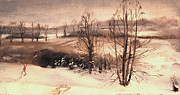 Mid West Landscape Art Posters - Brrington in Winter Poster by Art By Tolpo Collection