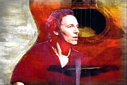 Bruce Springsteen Photo Prints - Bruce Print by John Delong
