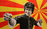 Bruce Lee Paintings - Bruce Lee by Jason Hill