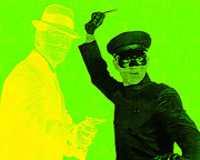 Superhero Digital Art Framed Prints - Bruce Lee Kato and The Green Hornet 20130216p54 Framed Print by Wingsdomain Art and Photography