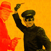 Martial Arts Prints - Bruce Lee Kato and The Green Hornet - square Print by Wingsdomain Art and Photography