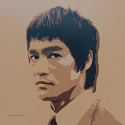Bruce Painting Originals - Bruce Lee by Zelko Radic Bfvrp