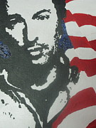 Bruce Springsteen Painting Originals - Bruce by Moira Ferguson