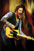 Bruce Springsteen Artwork Print by Sheraz A