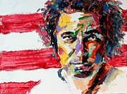 Bruce Springsteen Art Paintings - Bruce Springsteen by Derek Russell