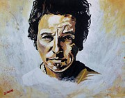Bruce Springsteen Painting Framed Prints - Bruce Springsteen Framed Print by Jeremy Moore