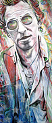 Lead Singer Painting Metal Prints - Bruce Springsteen Metal Print by Joshua Morton