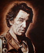 E Street Band Painting Metal Prints - Bruce Springsteen Metal Print by Mark Baker