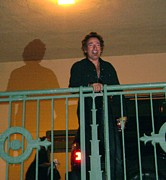 Bruce Springsteen Art - Bruce Springsteen on the balcony by Melinda Saminski