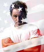 Bruce Springsteen Portrait Print by Marvin Blaine