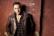 Bruce Art Posters - Bruce Springsteen Portrait Poster by Sanely Great