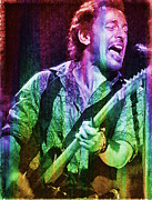 Bruce Springsteen Digital Art Prints - Bruce Springsteen Print by Riccardo Zullian