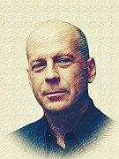 Boy Digital Art Originals - Bruce Willis by Marina Likholat