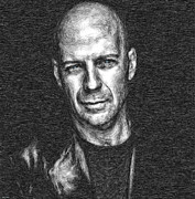 Cinema Mixed Media - Bruce Willis by Tyler Robbins