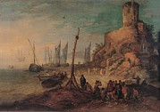 Sailing Ships Prints - Bruegel Jan The Younger, Sea Landscape Print by Everett