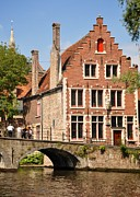Brick Buildings Art - Bruges architecture by Matt MacMillan