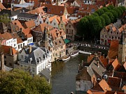 Beautiful Cities Prints - Bruges Boats Print by Danielle Groenen