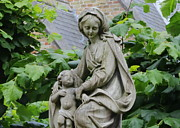 Mary And Jesus Prints - Bruges Statue Print by Carol Groenen