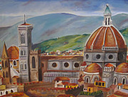 Dome Paintings - Brunelleschis Florence Dome by Stacy Ingram