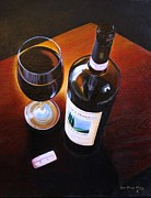 Italian Wine Painting Originals - Brunello di Montalcino by Jon Paul Price