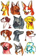 Corgi Drawings - Brush Breeds Batch 2 by Alexa Jones