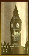 London England  Mixed Media - Brush Tone Big Ben by Debra     Vatalaro