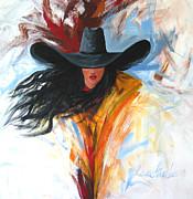 Brushstroke Cowgirl Print by Lance Headlee
