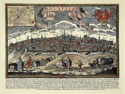 Technical Photo Prints - Brussels In 17th C. Engraving. © Print by Everett