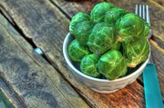 Greens Framed Prints Prints - Brussels Sprouts Print by Jimmy Ostgard