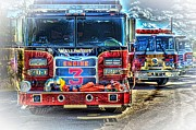 Fire Trucks Framed Prints - Brute Strength Framed Print by Arnie Goldstein