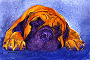 Mastiff Dog Paintings - Brutus by Ann Ranlett