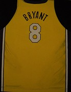 Los Angeles Lakers Paintings - Bryant Jersey by Catherine Boley