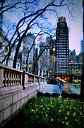 Bryant Park New York Framed Prints - Bryant Night Framed Print by Emily Stauring